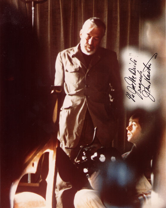 John Huston on set of THE OTHER SIDE OF THE WIND (Gary Graver)