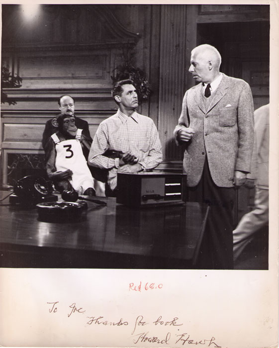 Howard Hawks directing Cary Grant in MONKEY BUSINESS, 1952  (Twentieth Century Fox), with thanks for FOCUS ON HOWARD HAWKS
