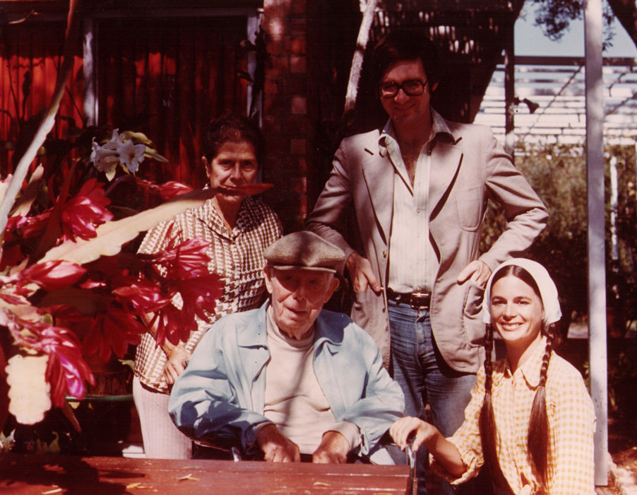 With Dido and Jean Renoir and Strawn Bovee, Beverly Hills, late 1970s  (Todd McCarthy)