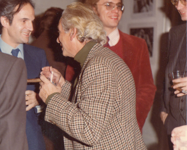 With François Truffaut, Samuel Fuller, Todd McCarthy at American Film  Institute party for THE STORY OF ADELE H., 1975