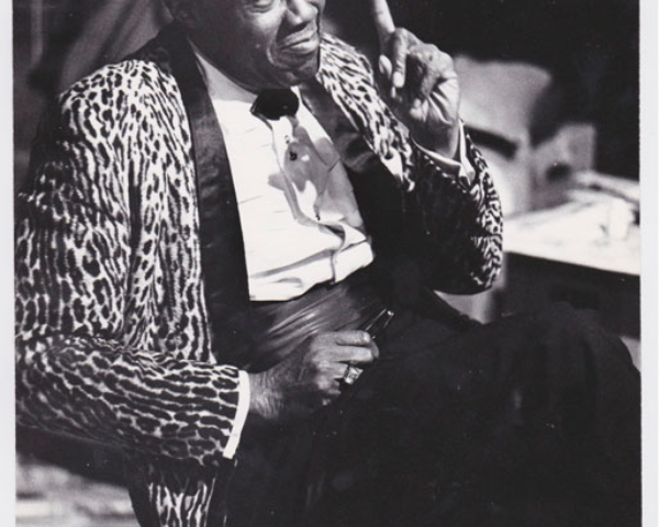Stepin Fetchit being interviewed by the author, Madison, Wis., 1970 (L.  Roger Turner)