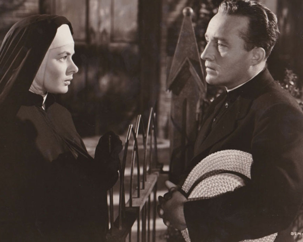 Ingrid Bergman and Bing Crosby in THE BELLS OF ST. MARY'S  (Rainbow  Productions/RKO, 1945)