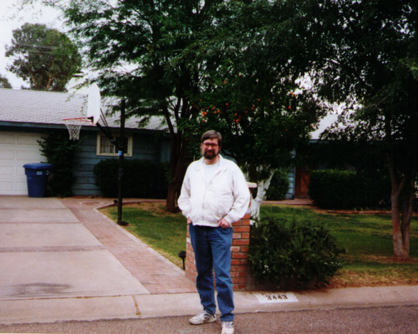 At Steven Spielberg's boyhood home in Phoenix, Az., 1997 (Kendall  Hailey)