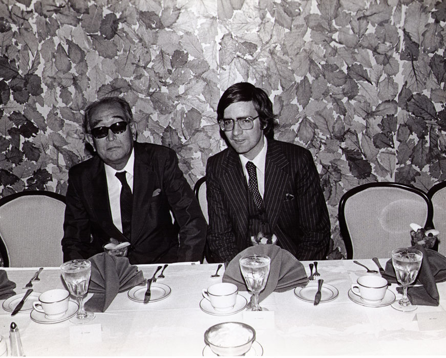 With Akira Kurosawa, publicity luncheon for KAGEMUSHA, Hollywood,  1980 (Twentieth Century Fox)